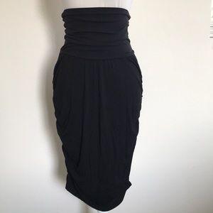 Black Motherhood Maternity Medium Skirt